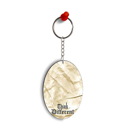Think Different Oval Key Chain