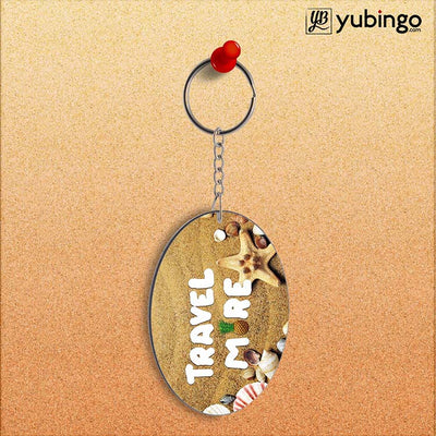 Travel More Oval Key Chain-Image2