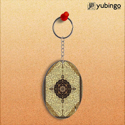 Turkish Carpet Oval Key Chain-Image2