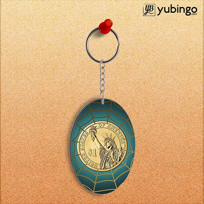 US Dollar Oval Key Chain-Image2