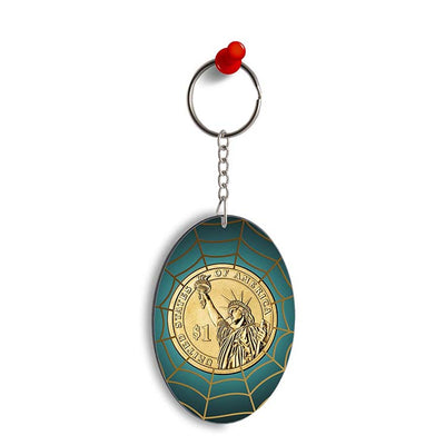 US Dollar Oval Key Chain