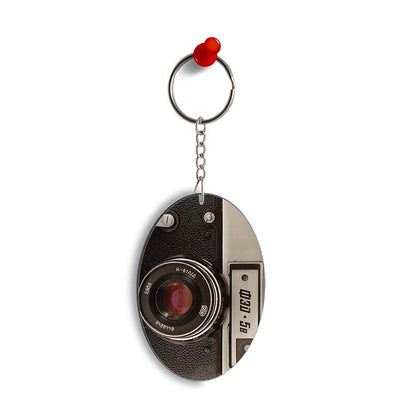 Vintage Camera Oval Key Chain