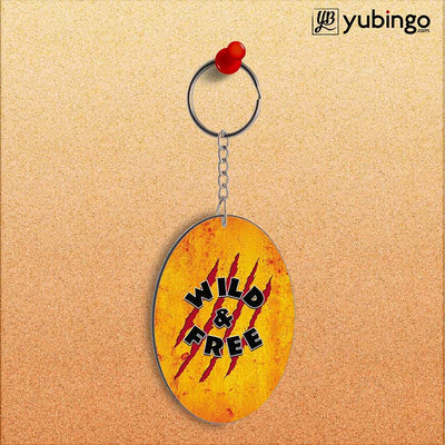 Wild and Free Oval Key Chain-Image2