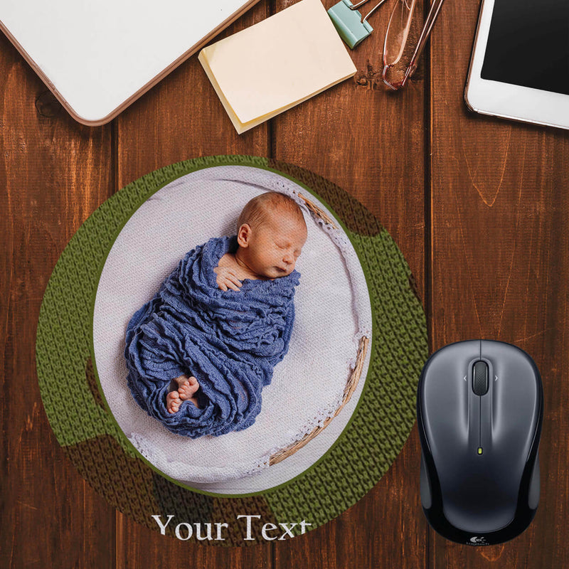 Camouflage Photo Mouse Pad (Round)