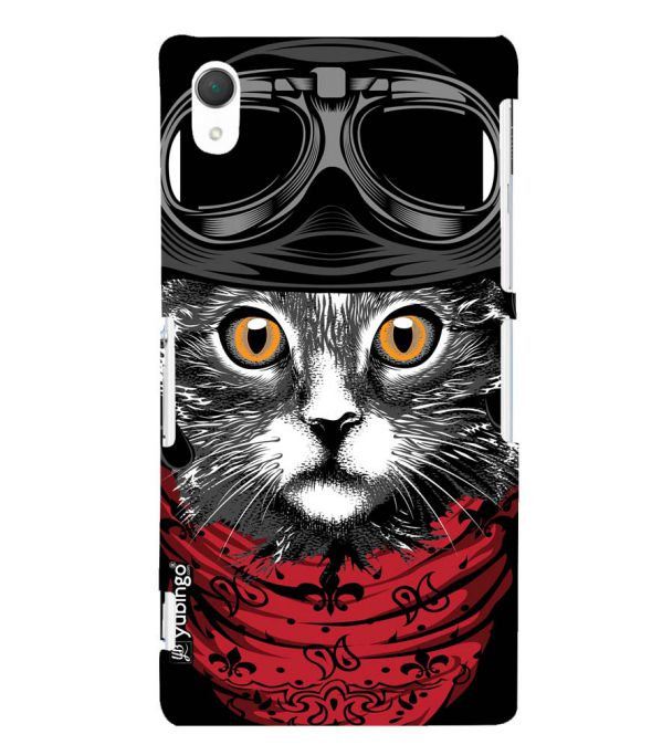 newest a4dad 51c27 Cat Punk Back Cover for Sony Xperia Z2 (5.2 Inches)