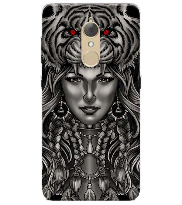 Charming Lady with Tiger Back Cover for Lenovo K8