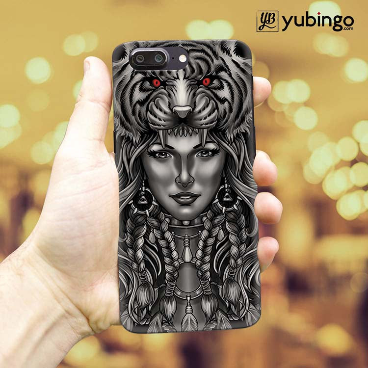 Charming Lady with Tiger Back Cover for OnePlus 5