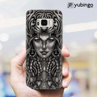 Charming Lady with Tiger Back Cover for Samsung Galaxy S8 Plus-Image2