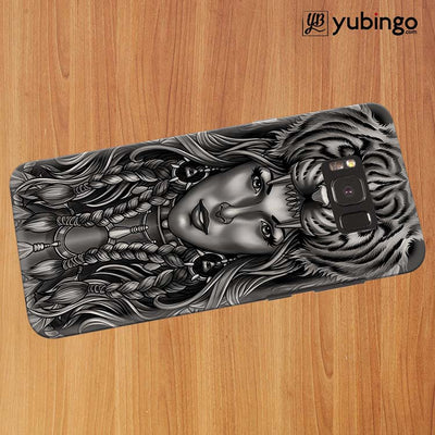 Charming Lady with Tiger Back Cover for Samsung Galaxy S8 Plus-Image3