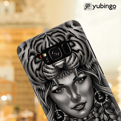 Charming Lady with Tiger Back Cover for Samsung Galaxy S8 Plus-Image4
