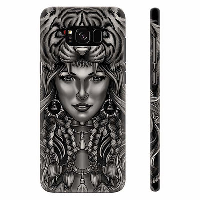 Charming Lady with Tiger Back Cover for Samsung Galaxy S8 Plus