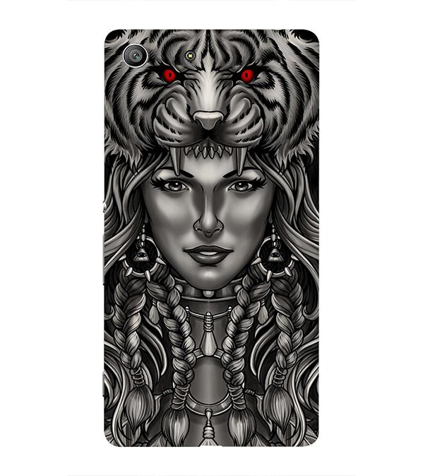 Charming Lady with Tiger Back Cover for Sony Xperia Z3