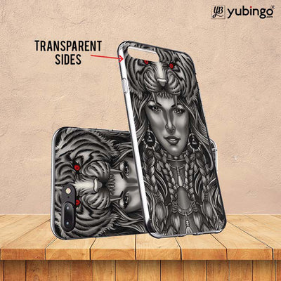 Charming Lady with Tiger Back Cover for InFocus M350-Image3