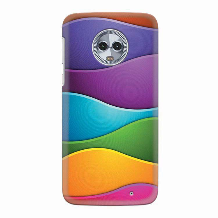 low priced a2c34 d0bd4 Colors Multiplied Back Cover for Motorola Moto G6 Plus