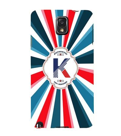 Colourful Customised Alphabet Back Cover for Samsung Galaxy Note 3-Image2