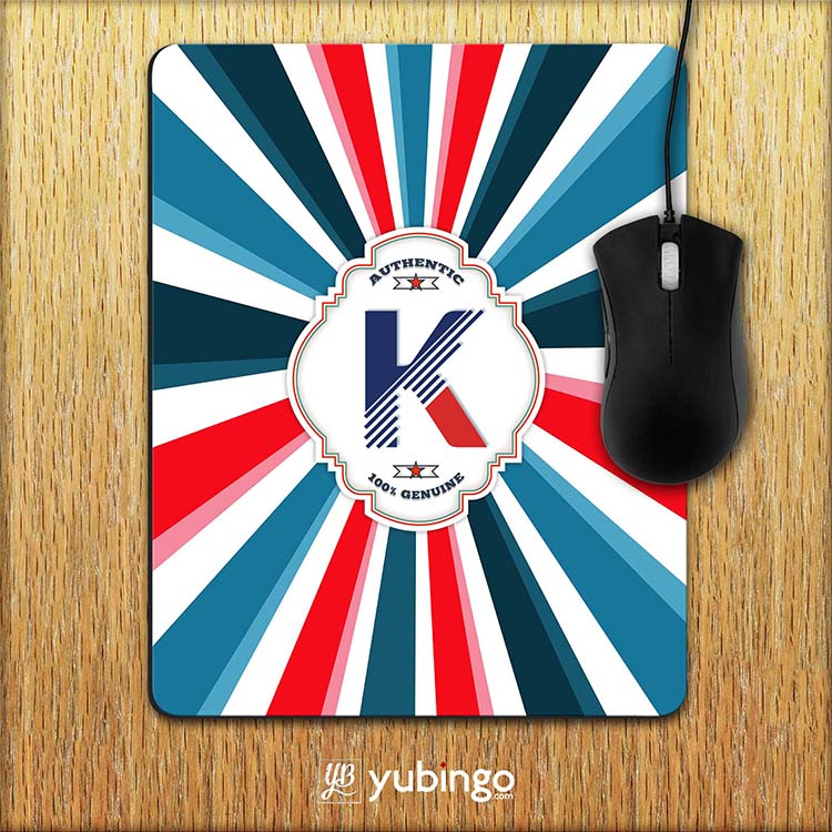Colourful Customised Alphabet Mouse Pad
