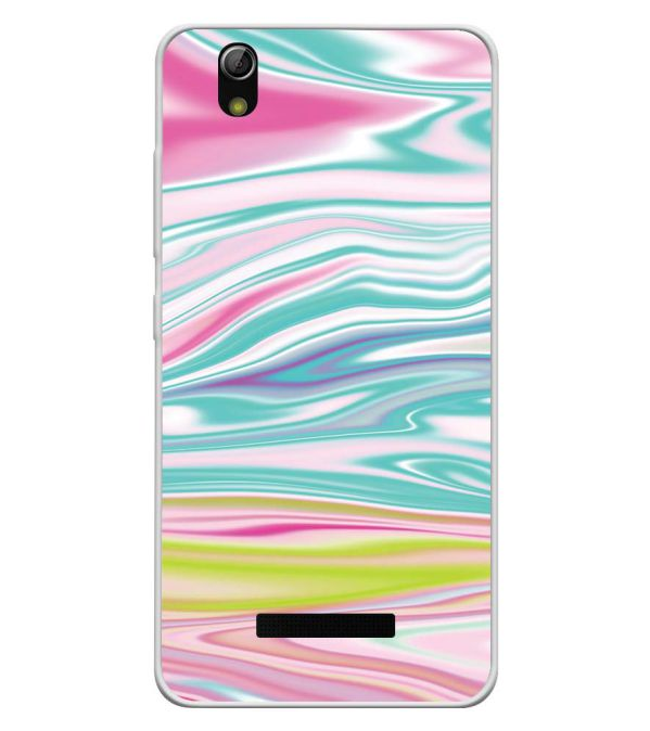 innovative design a0fad 0122a Colourful Marble Soft Silicone Back Cover for Gionee P5L