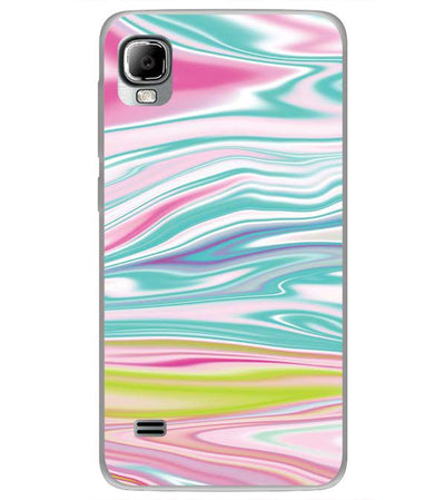Colourful Marble Back Cover for LYF Flame 3