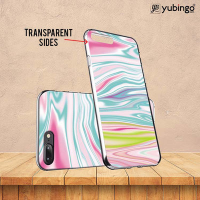 Colourful Marble Back Cover for LYF Flame 3-Image3