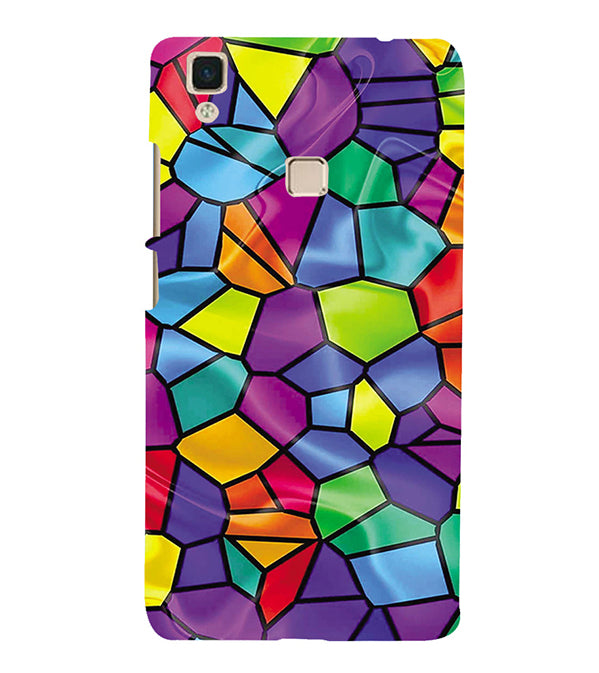 Colourful Mosaic Back Cover for Vivo V3Max