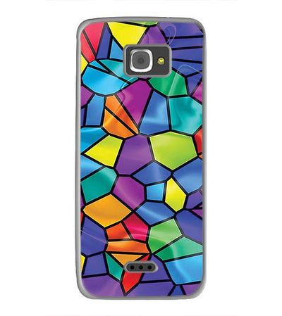 Colourful Mosaic Back Cover for InFocus M350