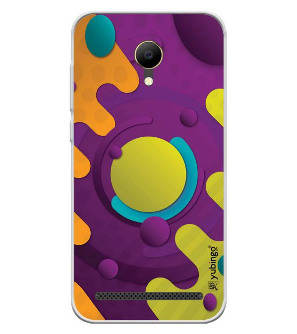 Colourful Patterns Soft Silicone Back Cover for VOTO V12