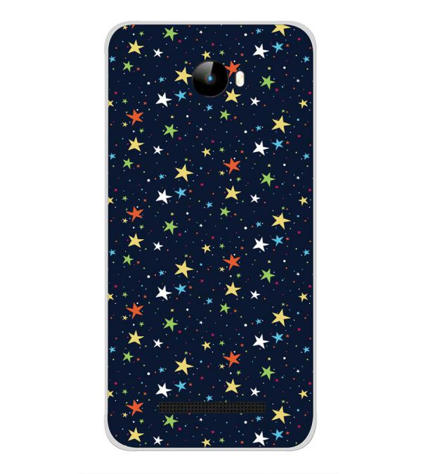 Colourful Stars Back Cover for Intex Staari 11-Image3
