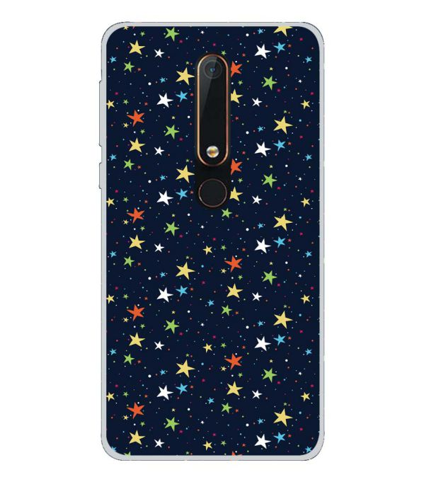 Colourful Stars Back Cover for Nokia 6.1 (2018)-Image3