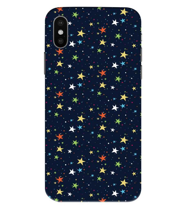 Colourful Stars Back Cover for Apple iPhone XS Max (Big 6.5 Inch Screen)