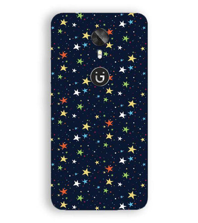 Colourful Stars Back Cover for Gionee A1