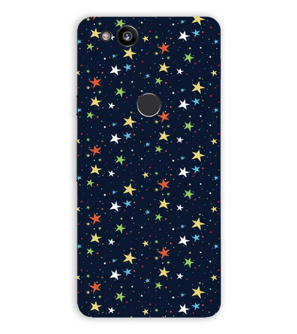 Colourful Stars Back Cover for Google Pixel 2 (5 Inch Screen)