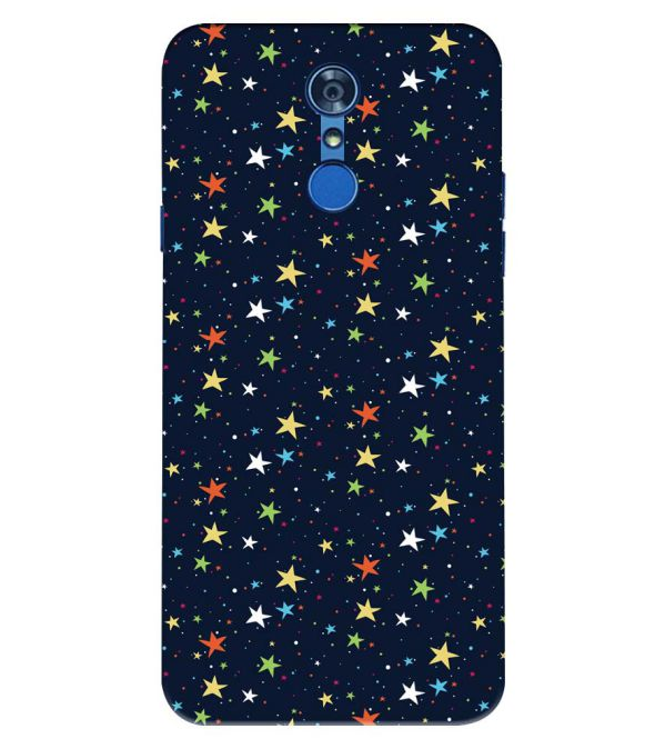 Colourful Stars Back Cover for LG Q7