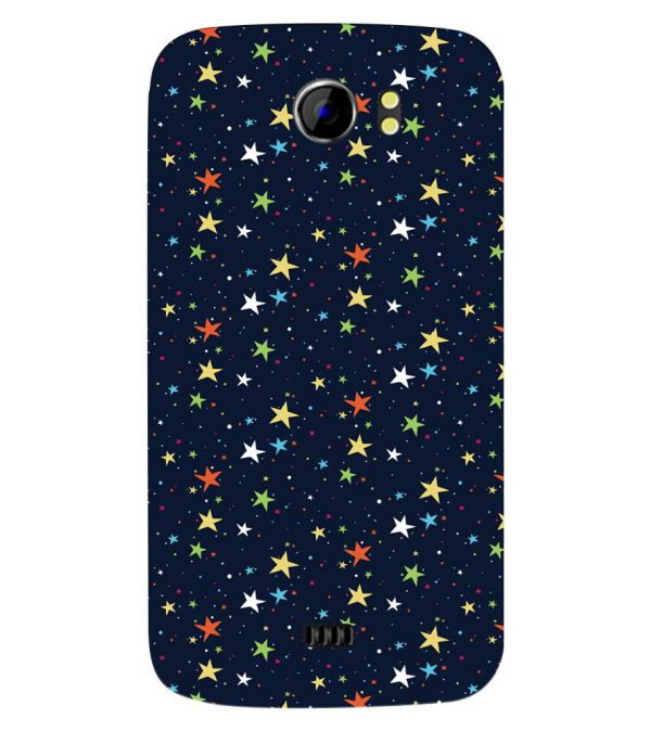 Colourful Stars Back Cover for Micromax A110 Canvas 2