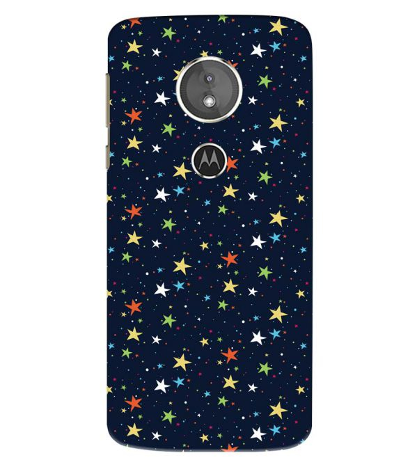 Colourful Stars Back Cover for Motorola Moto E5 Play
