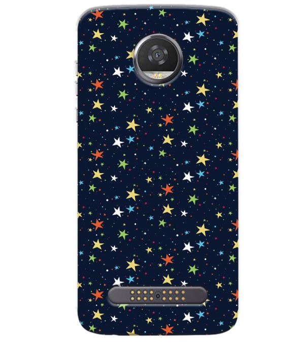 Colourful Stars Back Cover for Motorola Moto Z3 Play