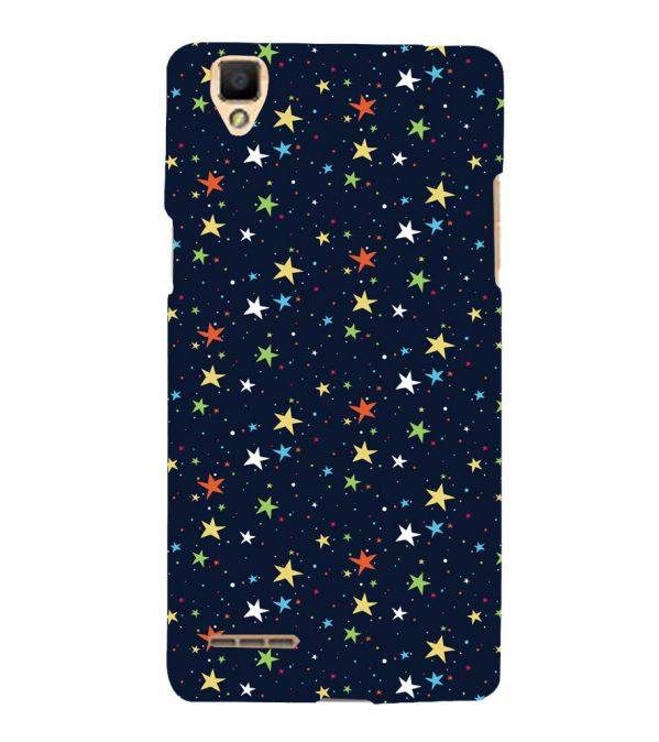 Colourful Stars Back Cover for Oppo F1