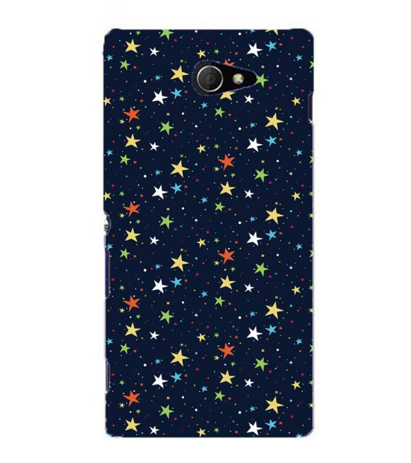 Colourful Stars Back Cover for Sony Xperia M2