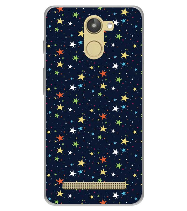 Colourful Stars Soft Silicone Back Cover for 10.or D (Tenor D)