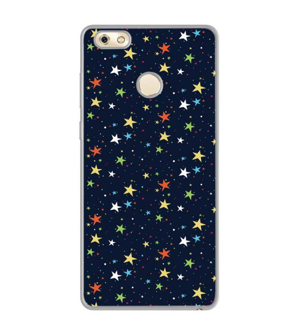 Colourful Stars Soft Silicone Back Cover for Gionee M7 Power