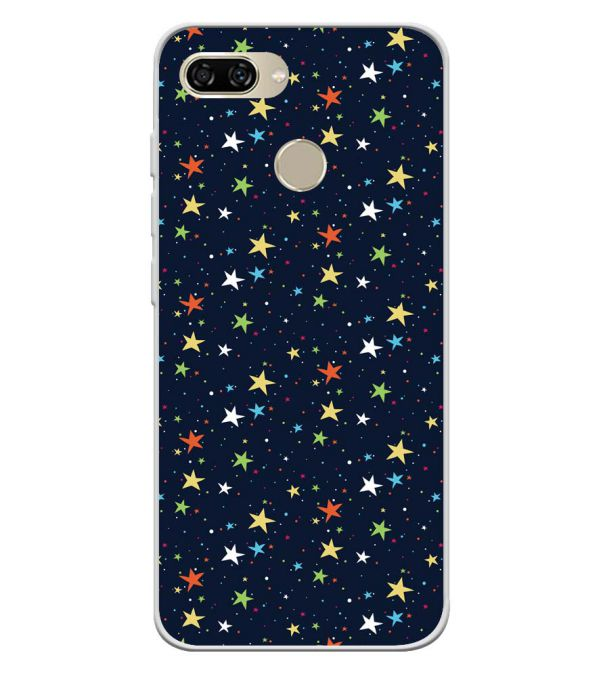 Colourful Stars Soft Silicone Back Cover for Gionee S11 lite