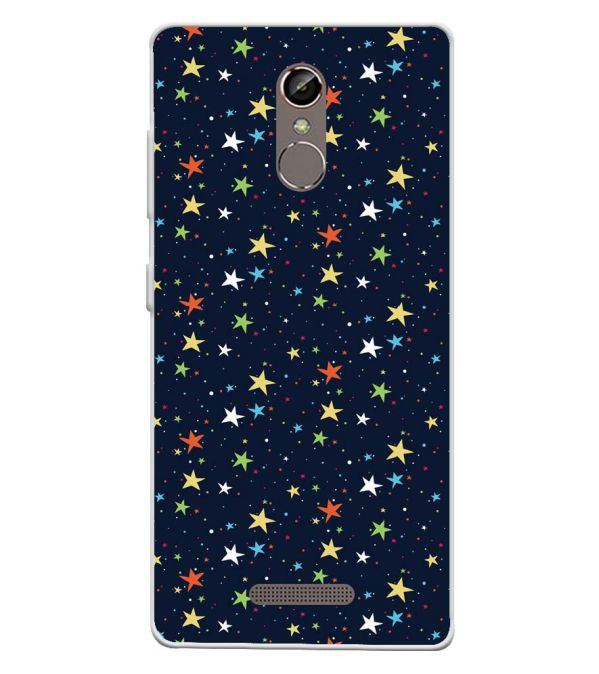 Colourful Stars Soft Silicone Back Cover for Gionee S6s