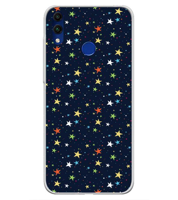 Colourful Stars Soft Silicone Back Cover for Honor 8C