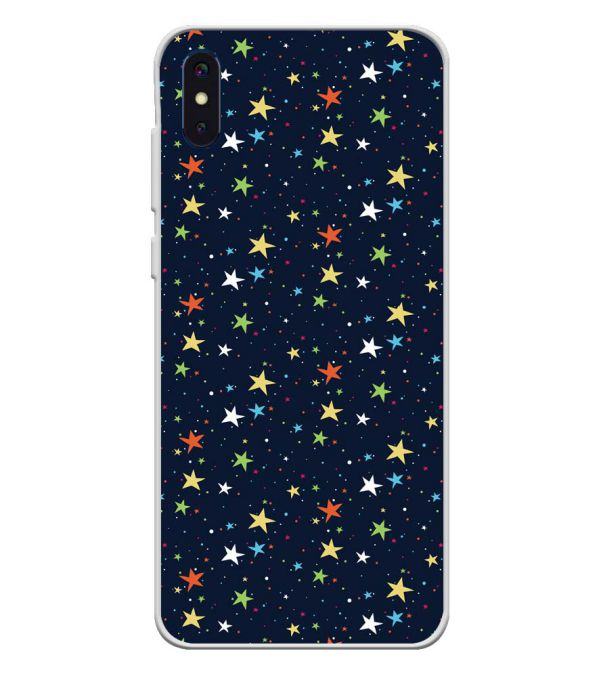 Colourful Stars Soft Silicone Back Cover for iVoomi i2