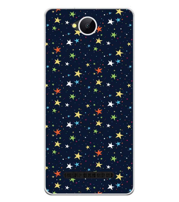Colourful Stars Soft Silicone Back Cover for Karbonn A45 Indian