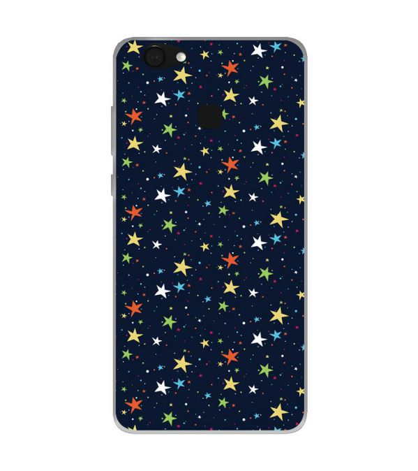 Colourful Stars Soft Silicone Back Cover for Kult Gladiator