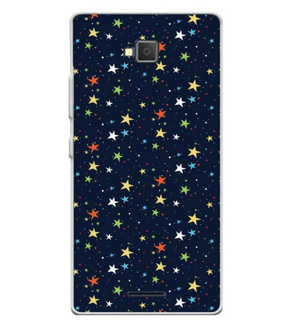 Colourful Stars Soft Silicone Back Cover for Lava A82