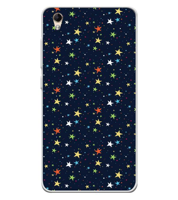 Colourful Stars Soft Silicone Back Cover for Lava Z60