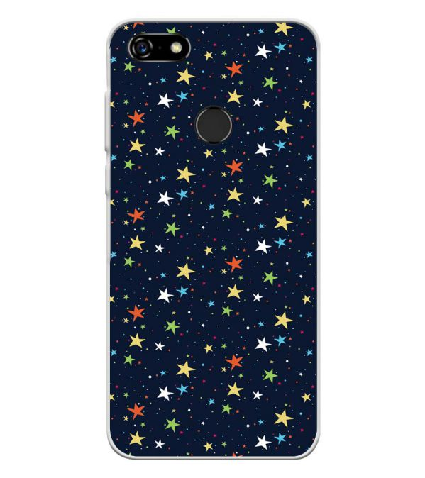 Colourful Stars Soft Silicone Back Cover for Lenovo A5