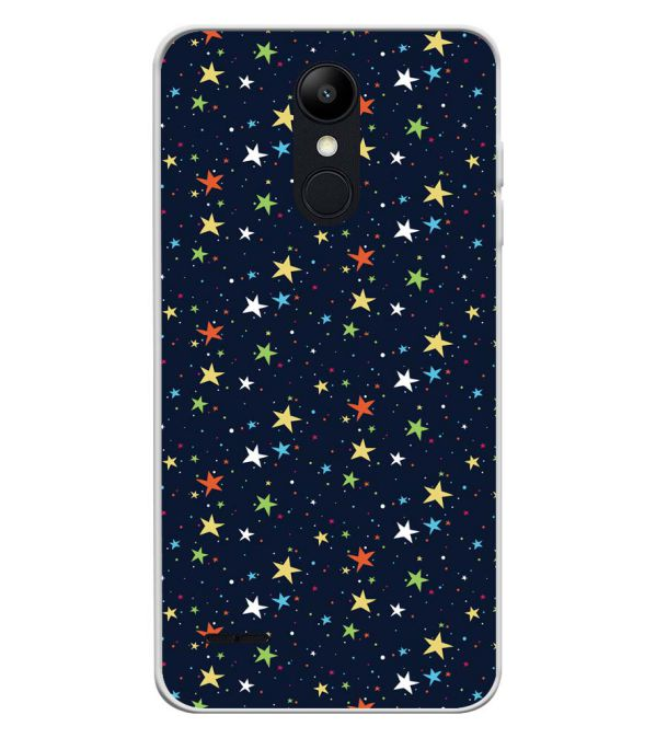 Colourful Stars Soft Silicone Back Cover for LG K9