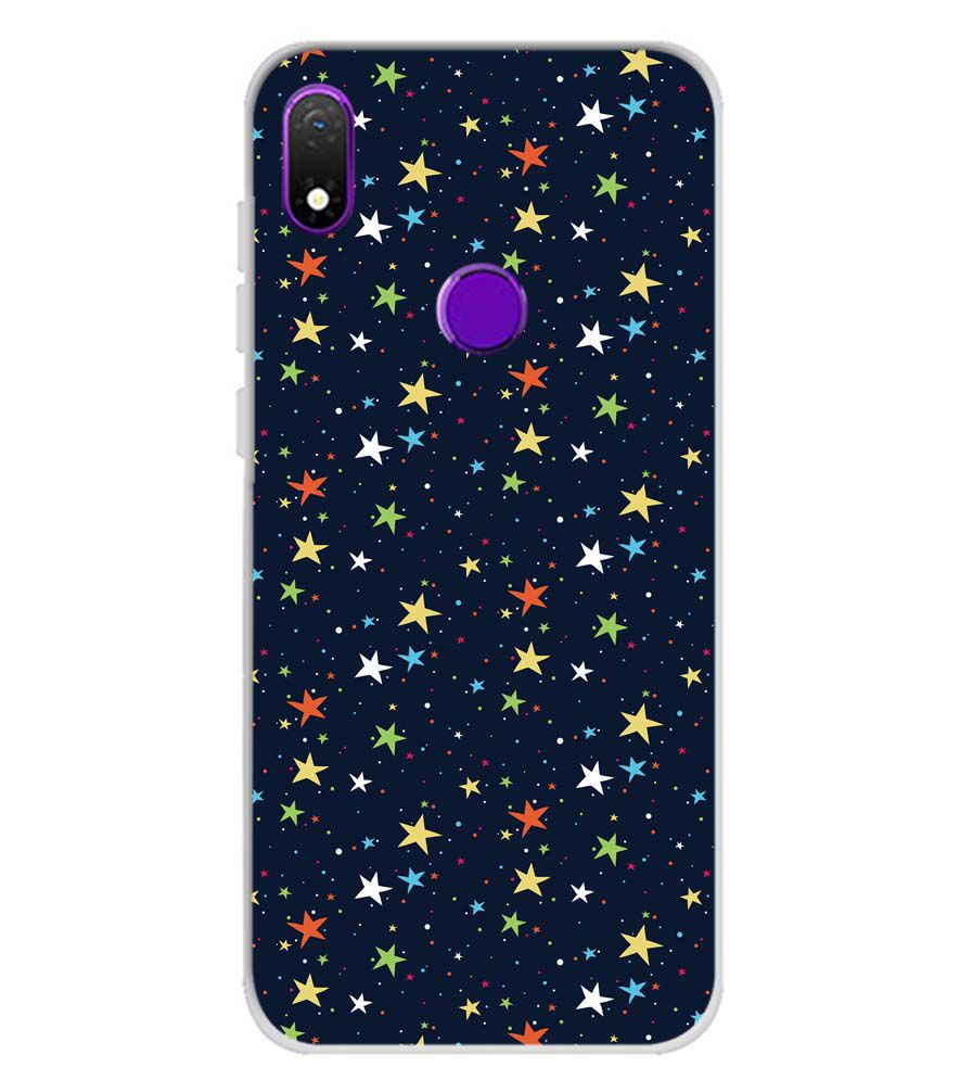 Colourful Stars Soft Silicone Back Cover for Mobiistar X1 Notch
